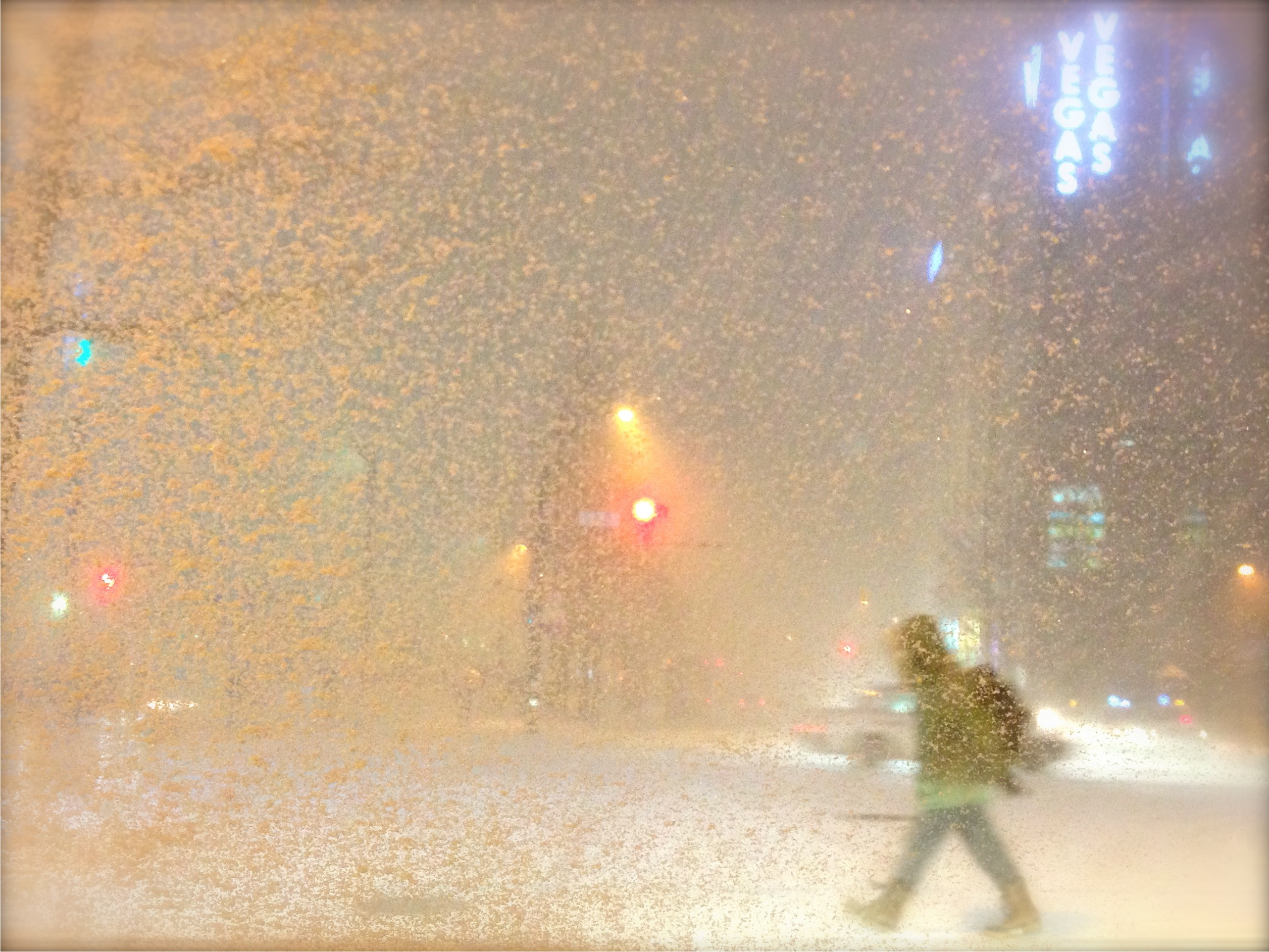 "Submitted by Chris Donnelly, who writes: ""I snapped this shot with my iPhone outside Sapporo Station. It was the first big snowfall for the season. It sums up the Sapporo winter experience pretty well."""