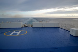 Another look at the rear deck, zoomed in on the helipad.