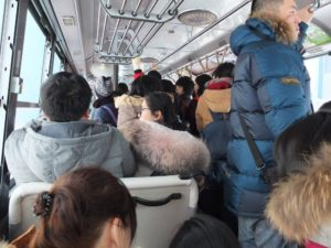 The bus gets really crowded so try to line up early.
